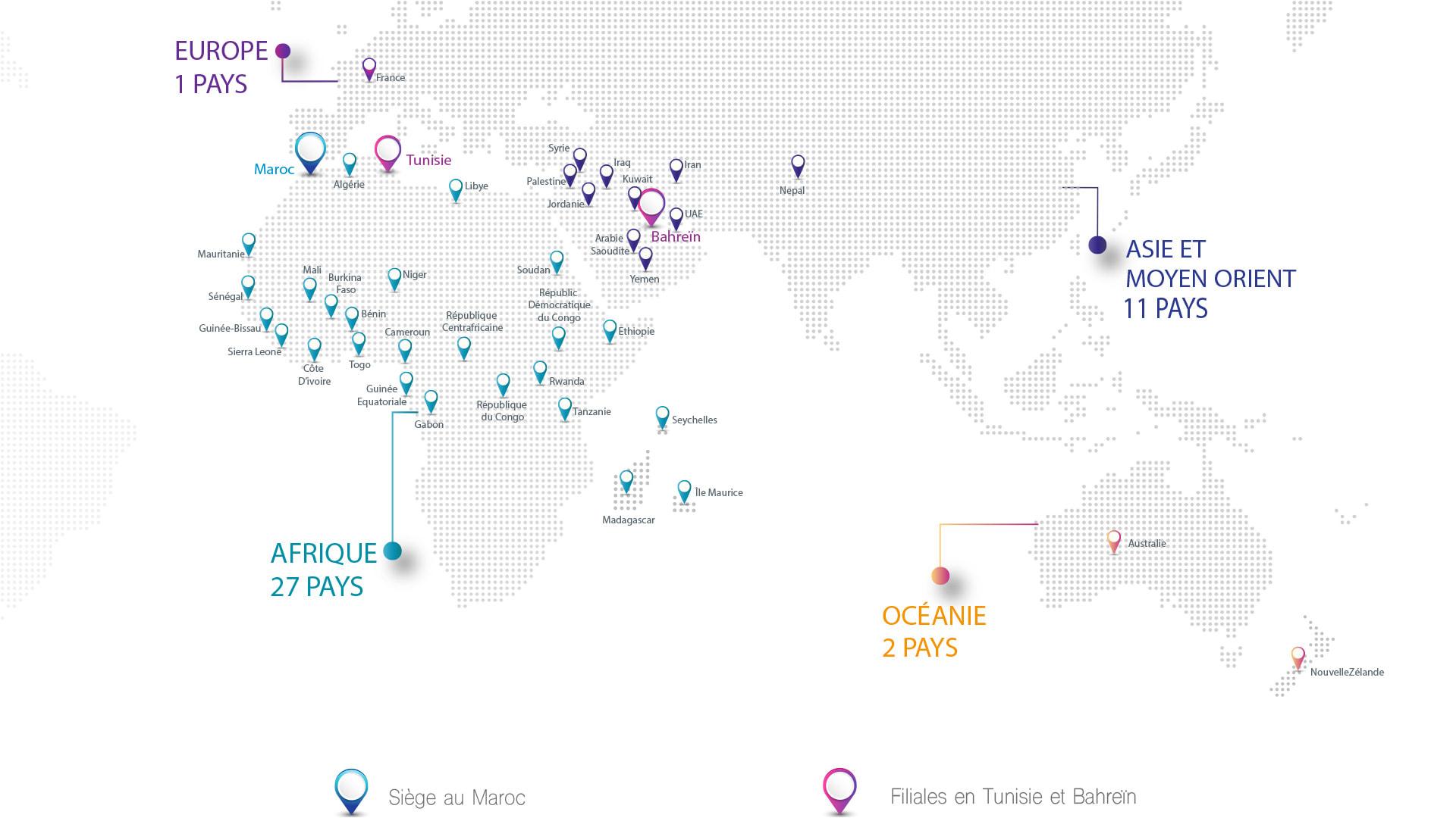 180 institutions à travers le monde